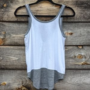 Chaser Neutral Colorblock Open Back Tank Top XS